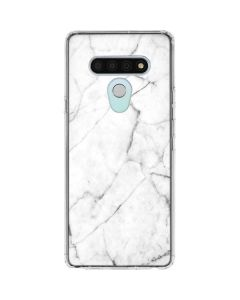 White Marble LG Stylo 6 Clear Case