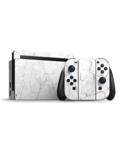 White Marble Nintendo Switch Bundle Skin