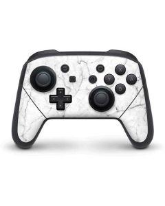 White Marble Nintendo Switch Pro Controller Skin