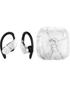 White Marble PowerBeats Pro Skin