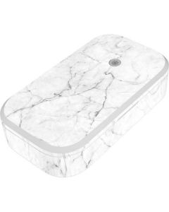 White Marble UV Phone Sanitizer and Wireless Charger Skin