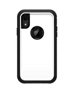 White Otterbox Defender iPhone Skin