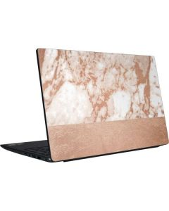 White Rose Gold Marble Dell Vostro Skin