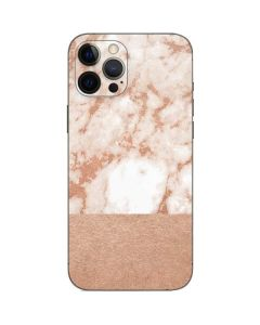 White Rose Gold Marble iPhone 12 Pro Max Skin