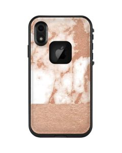 White Rose Gold Marble LifeProof Fre iPhone Skin
