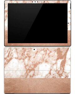 White Rose Gold Marble Surface Pro (2017) Skin