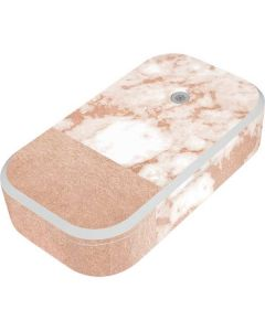White Rose Gold Marble UV Phone Sanitizer and Wireless Charger Skin