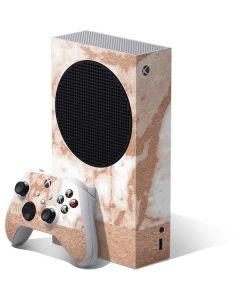 White Rose Gold Marble Xbox Series S Bundle Skin