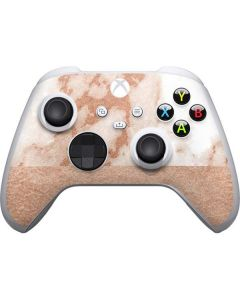 White Rose Gold Marble Xbox Series S Controller Skin