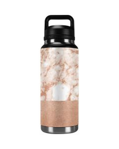 White Rose Gold Marble YETI Rambler 36oz Bottle Skin