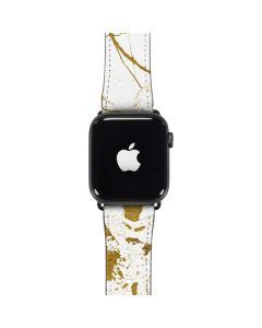 White Scattered Marble Apple Watch Band 38-40mm