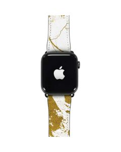 White Scattered Marble Apple Watch Band 42-44mm