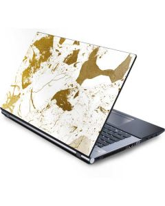 White Scattered Marble Generic Laptop Skin