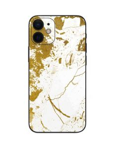 White Scattered Marble iPhone 12 Mini Skin