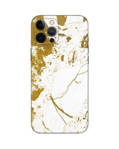 White Scattered Marble iPhone 12 Pro Skin