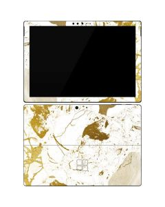 White Scattered Marble Surface Pro 7 Skin