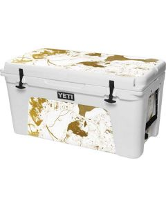 White Scattered Marble YETI Tundra 75 Hard Cooler Skin