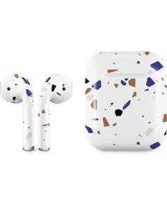 White Terrazzo Apple AirPods Skin