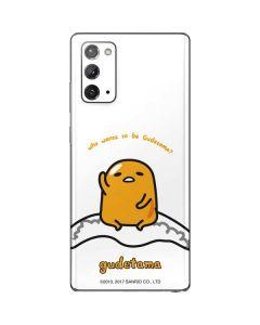Who Wants To Be Gudetama Galaxy Note20 5G Skin