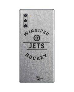 Winnipeg Jets Black Text Galaxy Note 10 Skin