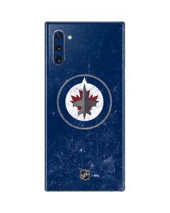 Winnipeg Jets Distressed Logo Galaxy Note 10 Skin
