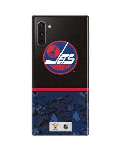 Winnipeg Jets Retro Tropical Print Galaxy Note 10 Skin