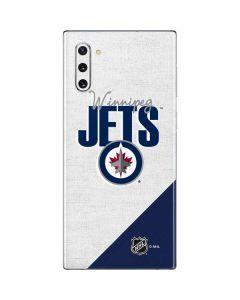 Winnipeg Jets Script Galaxy Note 10 Skin