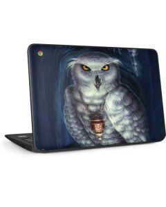 White Owl HP Chromebook Skin