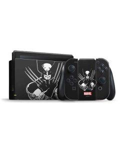 Wolverine Black and White Nintendo Switch Bundle Skin