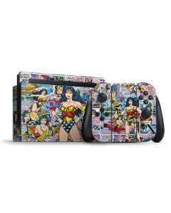 Wonder Woman Comic Blast Nintendo Switch Bundle Skin