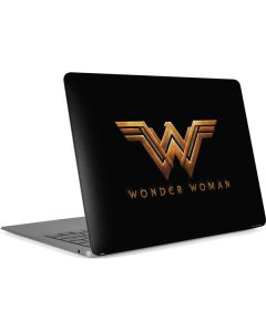 Wonder Woman Gold Logo Apple MacBook Air Skin