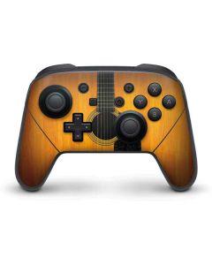 Wood Guitar Nintendo Switch Pro Controller Skin