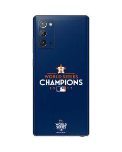 World Series Champions 2017 Houston Astros Galaxy Note20 5G Skin