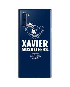 Xavier Musketeers Mascot Blue Galaxy Note 10 Skin