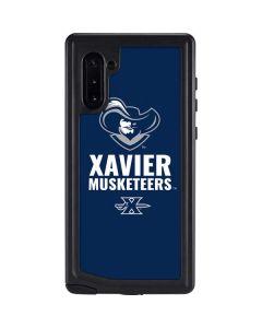 Xavier Musketeers Mascot Blue Galaxy Note 10 Waterproof Case