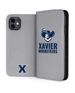 Xavier Musketeers Mascot iPhone 11 Folio Case