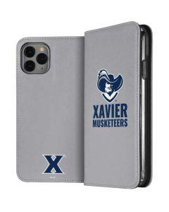Xavier Musketeers Mascot iPhone 11 Pro Folio Case
