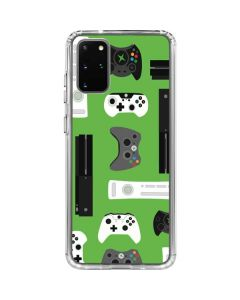 Xbox Pattern Galaxy S20 Plus Clear Case