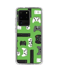 Xbox Pattern Galaxy S20 Ultra 5G Clear Case