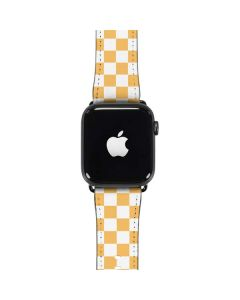 Yellow and White Checkerboard Apple Watch Case