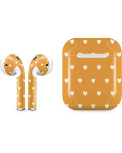 Yellow and White Hearts Apple AirPods Skin