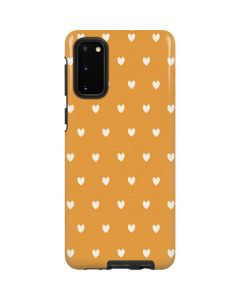 Yellow and White Hearts Galaxy S20 Pro Case