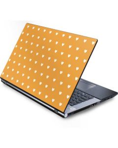 Yellow and White Hearts Generic Laptop Skin