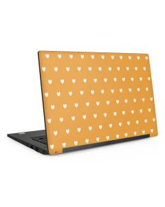 Yellow and White Hearts Dell Latitude Skin
