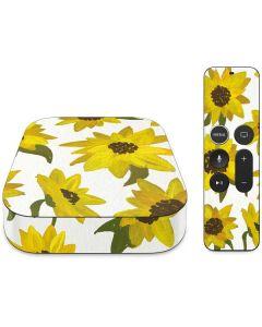 Sunflower Acrylic Apple TV Skin