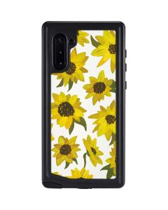 Sunflower Acrylic Galaxy Note 10 Waterproof Case