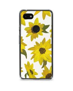 Sunflower Acrylic Google Pixel 3a Clear Case