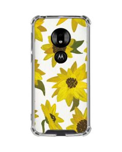 Sunflower Acrylic Moto G7 Play Clear Case