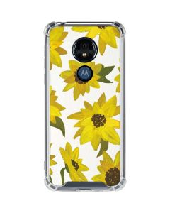Sunflower Acrylic Moto G7 Power Clear Case