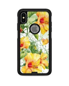 Yellow Hibiscus Otterbox Commuter iPhone Skin
